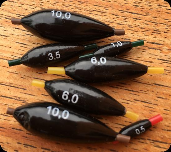 Vario Feststellblei mit Silikonschlauch von 0,5 bis 14 Gramm Gr/ö/ße 1,75 Gramm